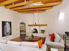Image result for Traditional Mexican White Adobe fireplaces with tiles