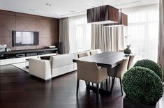 Sensational modern apartment in Kiev with warm interiors