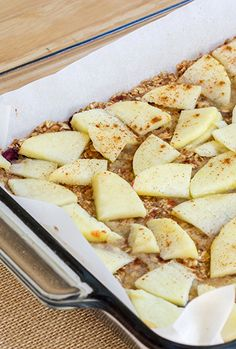 These apple oat bars are natural brain boosters filled with fiber and nutrition.