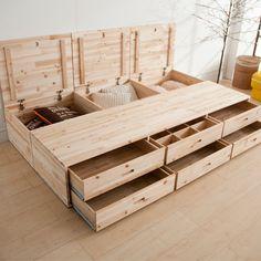 stauraum unterm bett interior pinterest stauraum bett und stauraum ideen. Black Bedroom Furniture Sets. Home Design Ideas