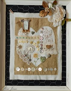 This is so wonderful! Life is a Beautiful Place to Be ~ Stitch to Stitch Embroidery Sampler, Free Motion Embroidery, Embroidery Applique, Cross Stitch Embroidery, Cross Stitching, Sewing Art, Sewing Crafts, Sewing Projects, Button Art