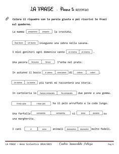 La frase | PDF to Flipbook Learning Italian, Preschool, Coding, Math Equations, Teaching, Alphabet, Learn Italian Language, Nursery Rhymes, Kindergarten