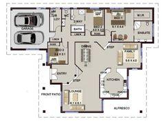 3 bed floor plan with carport   3 Bedroom House plans   Pinterest ...
