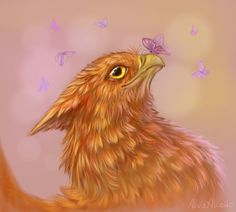 Gryphon and butterflies by AlviaAlcedo on deviantART