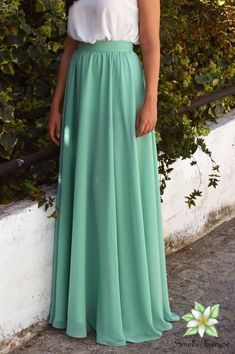 Blue Green Skirt, Chiffon Skirt, Long Skirt, Women Skirt, Fashion Skirt, Circle skirt, Loose skirt, Prom Skirt, Engagment Skirt, Party Skirt Ivory Lace Top, Wedding Skirt, Party Skirt, Chiffon Skirt, Skirt Fashion, Blue Green, Bridesmaid Dresses, Prom, Womens Fashion