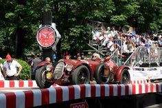 Arabel van Butzelaar als bijrijder in een Alfa Romeo klassieker, Mille Miglia race 2015