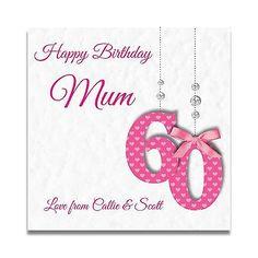Handmade Personalised Ladies 60th 70th 80th Nan Gran Sister Mum Birthday Card