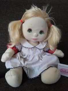 Mattel 1985 My Child Doll 14  Blonde Hair Green Eyes