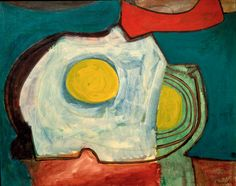"""william baziotes, """"beach shadows,"""" 1947. (looks like a sunny-side up egg to me!)"""