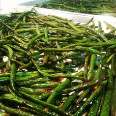Super easy and yummy. Be sure to watch it so that it doesn't burn! String Beans with Caramelized Onions | Beyond My Recipes