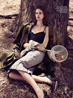 Will Davidson & Jillian Davison Shoot Bee Farm Story for Vogue Australia