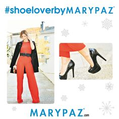 Nuestras #Shoelovers ya están pensando en sus looks festivos de cara a la gran noche del año  ¿ Qué os parece este outfit total red con stilettos by MARYPAZ ?  Compra en un solo clic ¡ Y te lo llevamos a casa GRATIS al realizar tu pedido ONLINE durante todo el mes de diciembre !  ► http://mapetitebyana.blogspot.com.es/2014/12/como-vestirse-en-fin-de-ano_28.html  Shop at ► http://www.marypaz.com/tienda-online/stiletto-con-plataforma-y-punta-redonda-24476.html?sku=69644-42