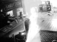 This apparition photo comes from the Marietta Museum of History in Marietta, GA. The museum, housed in the old Kennesaw House, once served as a hospital and a morgue during the Civil War. Now the building is reportedly haunted by a woman in a long dress. Is that her