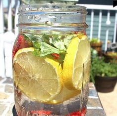 Try this incredible homemade Basil, Strawberry & Lemon De-Stress Drink to help reduce stress and give you an energy boost! Check out the Fat Flush Water as well!