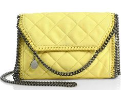 Stella McCartney Lemon Falabella in Quilted Faux-Suede