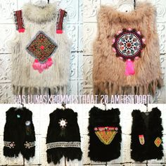 Las Lunas Fashion # handmade gilets #ibiza fashion # fall / winter 2015/2016