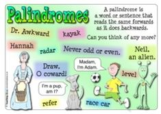 Best Palindromes Images Words Activities Figurative Language