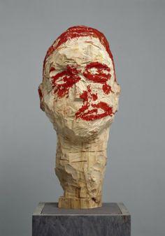 Tilleul et tempera Georg Baselitz Sculpture Head, Wood Sculpture, Contemporary Sculpture, Contemporary Art, 3d Art, Figurative Kunst, Art Antique, Art Brut, Inspiration Art