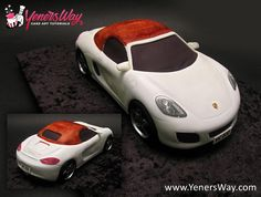 3D Porsche Cake - Cake by Yeners Way - Cake Art Tutorials