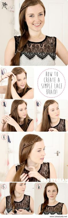 Simple lace braid