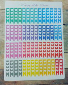 56 Heart Checklist Planner Stickers: Perfect by VintageLilacPaper