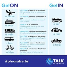 Phrasal Verbs related to traffic
