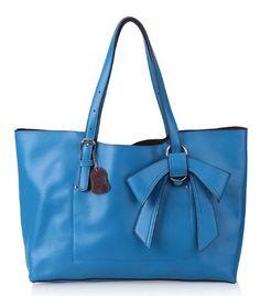 VIVILLI Bow Pattern Leather Shoulder Bag