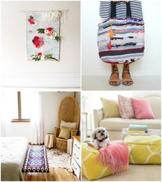 Before you get rid of that old rug, try one of these ideas to give it new life and use it in your home!