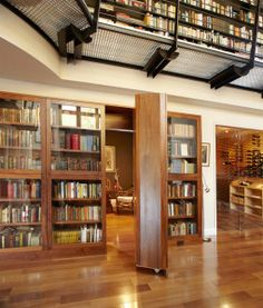 Hidden Room Behind Bookcase By SellarsLathrop Architects In Hilltop House