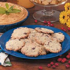 Cranberry Crispies Recipe -At holiday rush time, you can't go wrong with these simple cookies shared by LaVern Kraft of Lytton, Iowa. They're a snap to stir up with a boxed quick bread mix, and they bake up crisp and delicious.