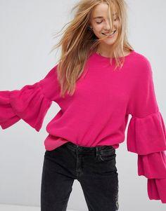 Pimkie - Pullover mit Rüschen - Rosa Jetzt bestellen unter: https://mode.ladendirekt.de/damen/bekleidung/pullover/sonstige-pullover/?uid=5dfcb861-4120-5f87-942d-41ed1ddf0127&utm_source=pinterest&utm_medium=pin&utm_campaign=boards #strickjacken #sonstigepullover #pullover #female #bekleidung