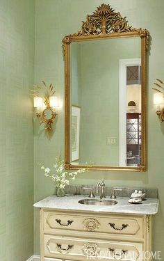 Create a Smashing Powder Room - Traditional Home