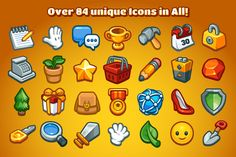 Casual Game Basic Icons Set by Vectricity Designs on Creative Market
