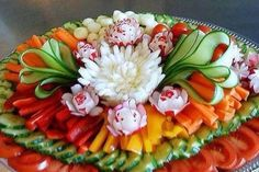 Mooi opgemaakte groente/rauwkost schotel
