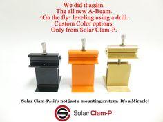 A-Beam ad Clam, Solar Panels, Drill, Sun Panels, Hole Punch, Solar Power Panels, Drills, Drill Press, Sons
