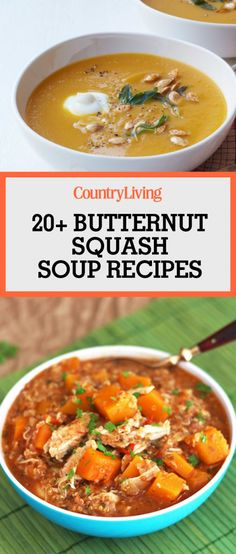 Save these great butternut squash soup recipes for later! Don't forget to follow Country Living on Pinterest for more recipe ideas.