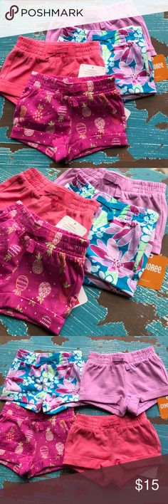 NWT! Baby girl shorts bundle NWT! 4 Adorable pairs of shorts for baby girl!! Gymboree Bottoms Shorts