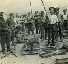 Making bread for British troops in France in WWI.