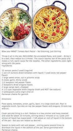 'Blow your mind' tomato basil pasta............ I made this for supper tonight and everyone loved it! Super easy and delicious! :)