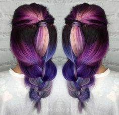 Purple Ombre Natural Hair | Pastel and Neon Hair Colors in Balayage and Ombre: Purple Balayage ...
