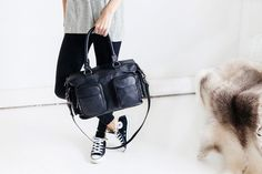 Status Anxiety Bandits and Breakaways Baby Bag - Black - The Style Merchant Leather Backpack, Leather Bag, Italian Leather, Fashion Backpack, Shoulder Strap, Baby Kids, Backpacks, Stuff To Buy