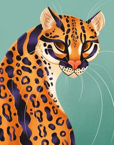 Painting Inspiration, Art Inspo, Image Deco, Posca Art, Tiger Art, Ocelot, Arte Pop, Art Mural, Cat Art