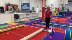 Beam and vault are the focus of the third obstacle course for our Twilight Tumblers, ages in this Circus themed session. We included a some jumping, inversion and balance elements as well as counting and color recognition. Toddler Gymnastics, Gymnastics Lessons, Preschool Gymnastics, Gymnastics Room, Gymnastics Coaching, Gymnastics Training, Gymnastics Videos, Preschool Circus Theme, Outside Activities For Kids
