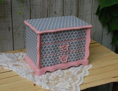 French Jewelry Music Box Shabby Chic Pink by TheVintageArtistry, $70.00