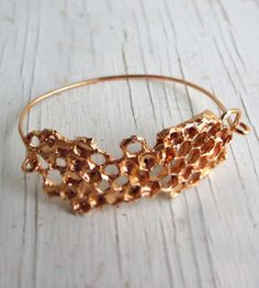 Honeycomb Bracelet by Chase & Scout cast from real honeycomb.