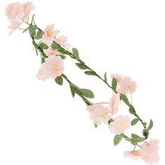 Pink Flower Vine ($11) ❤ liked on Polyvore featuring accessories, hair accessories, hair, headbands, fillers, women, miss selfridge, head wrap headband, headband hair accessories and pink flower headband