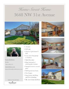 Real Estate for sale at $450,000! Come and view this beautiful four bedroom, two full and one half bath, 2629 square foot two story Parker Estates mountain view home on a .16 acre landscaped lot located at 3648 NW 31st Avenue, Camas, Washington 98607 in Clark County area 32 which is in the Camas city limits. The RMLS number is 18549566. It has one gas burning fireplace and a mountain and territorial view. It was built in 1997 and has an extra deep and oversized two car garage. The local high…