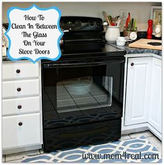 How To Clean In Between The Glass On Your Stove Doors ! by Mom 4 Real