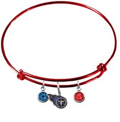 6bb207317 Tennessee Titans Color Edition NFL Expandable Wire Bangle Charm Bracelet