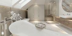 MOCO / Klasyka w nowoczesnej formie. - Średnia duża łazienka na poddaszu w domu jednorodzinnym z oknem, styl nowojorski - zdjęcie od MOCO Architecture